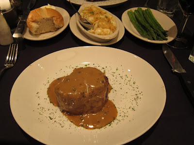 Ribeye in peppercorn sauce at Sullivans