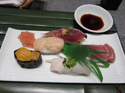 Sushi platter at Edo Bangalore