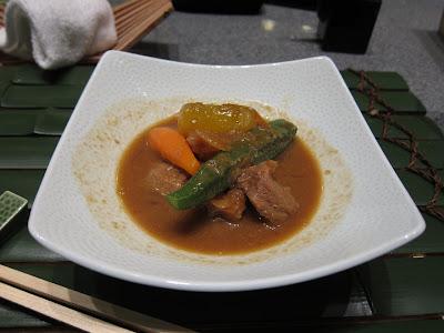 Nimono lamb stew at Edo Bangalore