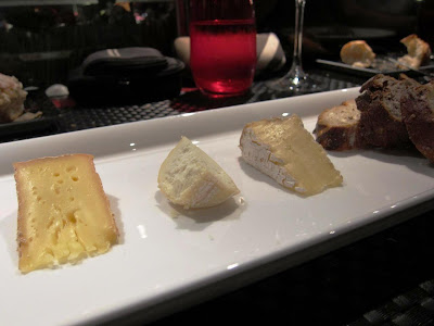 Cheese platter at l'Atelier de Joel Robuchon Vegas
