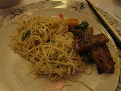 Noodles and Pork at Shanghai Club