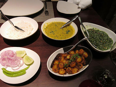 Indian menu at Shakahari