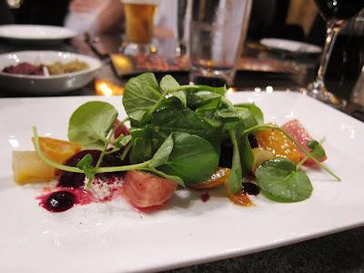 Baby Beet Salad at Chez Papa Resto
