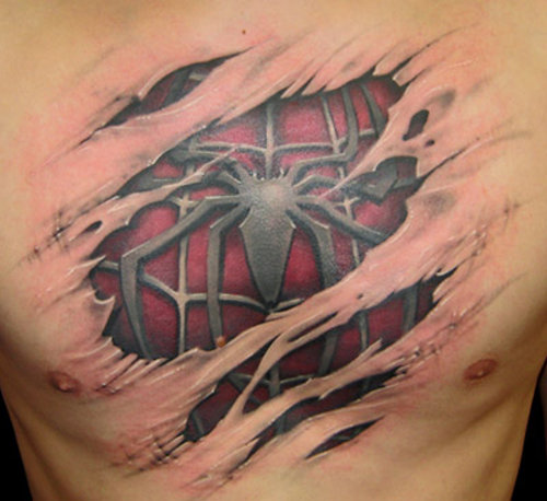 3D Tattoos Spiderman. Posted by Muhammad Waqas at 4:01 AM. Labels: Tattoos