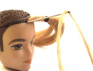 Dolly Care: Reroot Doll Hair: Knot Method