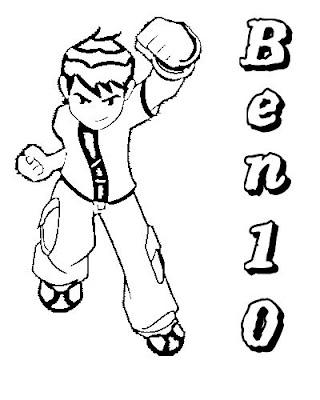 TODO SOBRE BEN 10: BEN 10 PARA COLOREAR!