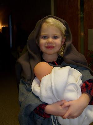 Bekah as Mary!