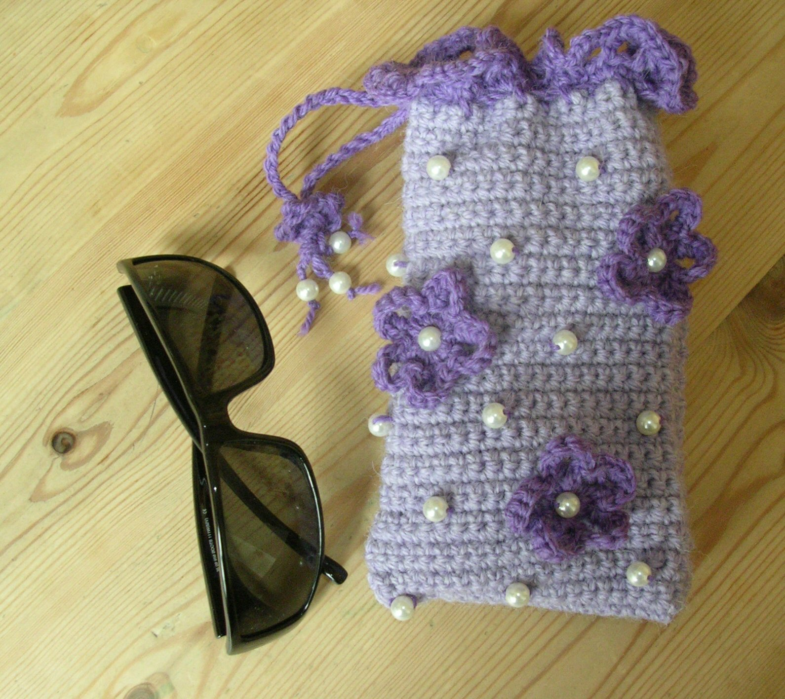 Free Crochet Pattern Eyeglass Case : Cosmic Crafts: Crafty Crochet: Glasses Case