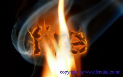 Membuat tulisan dengan efek api