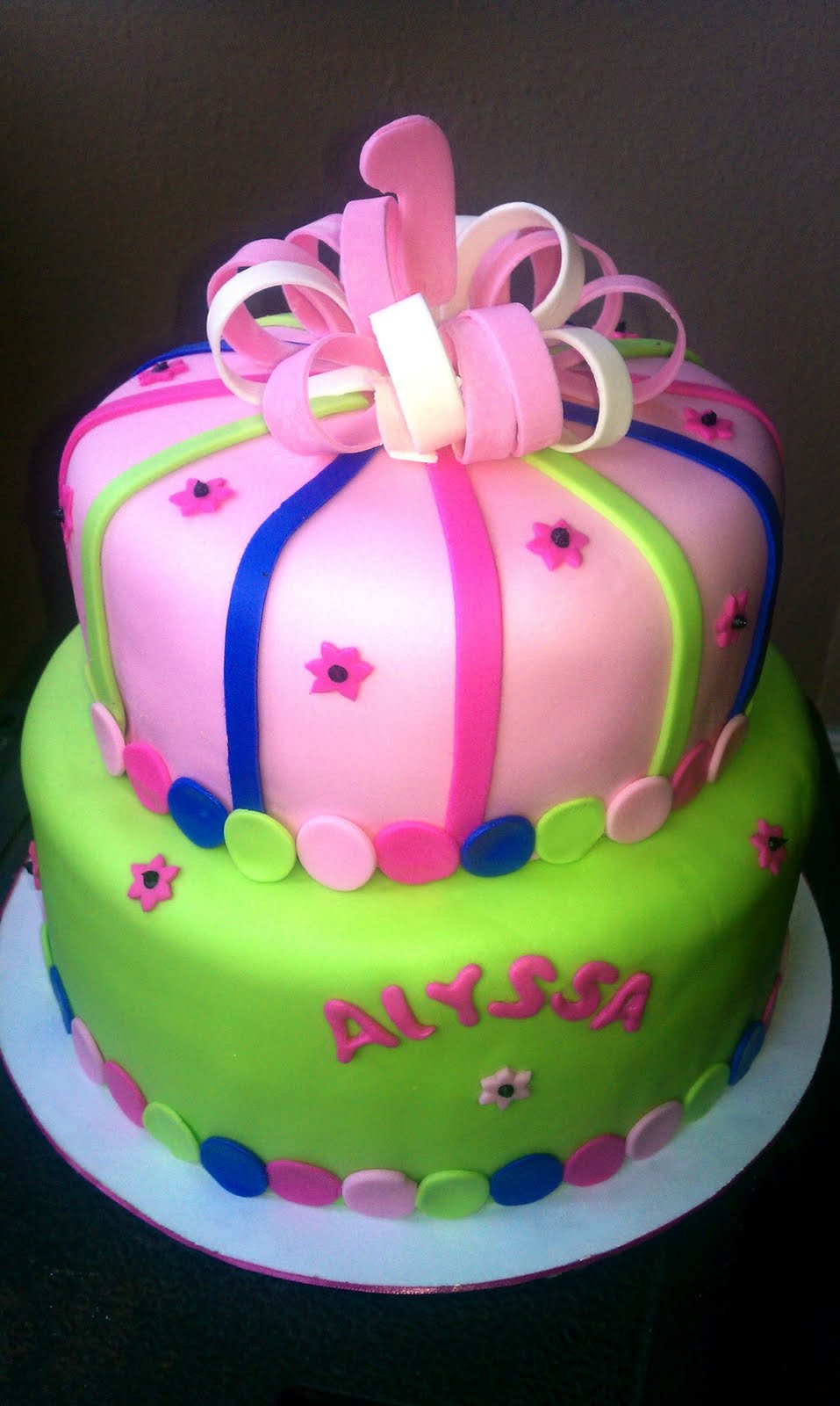 Luz The Cake Lady Pretty Cake For Alyssas 1st Birthday