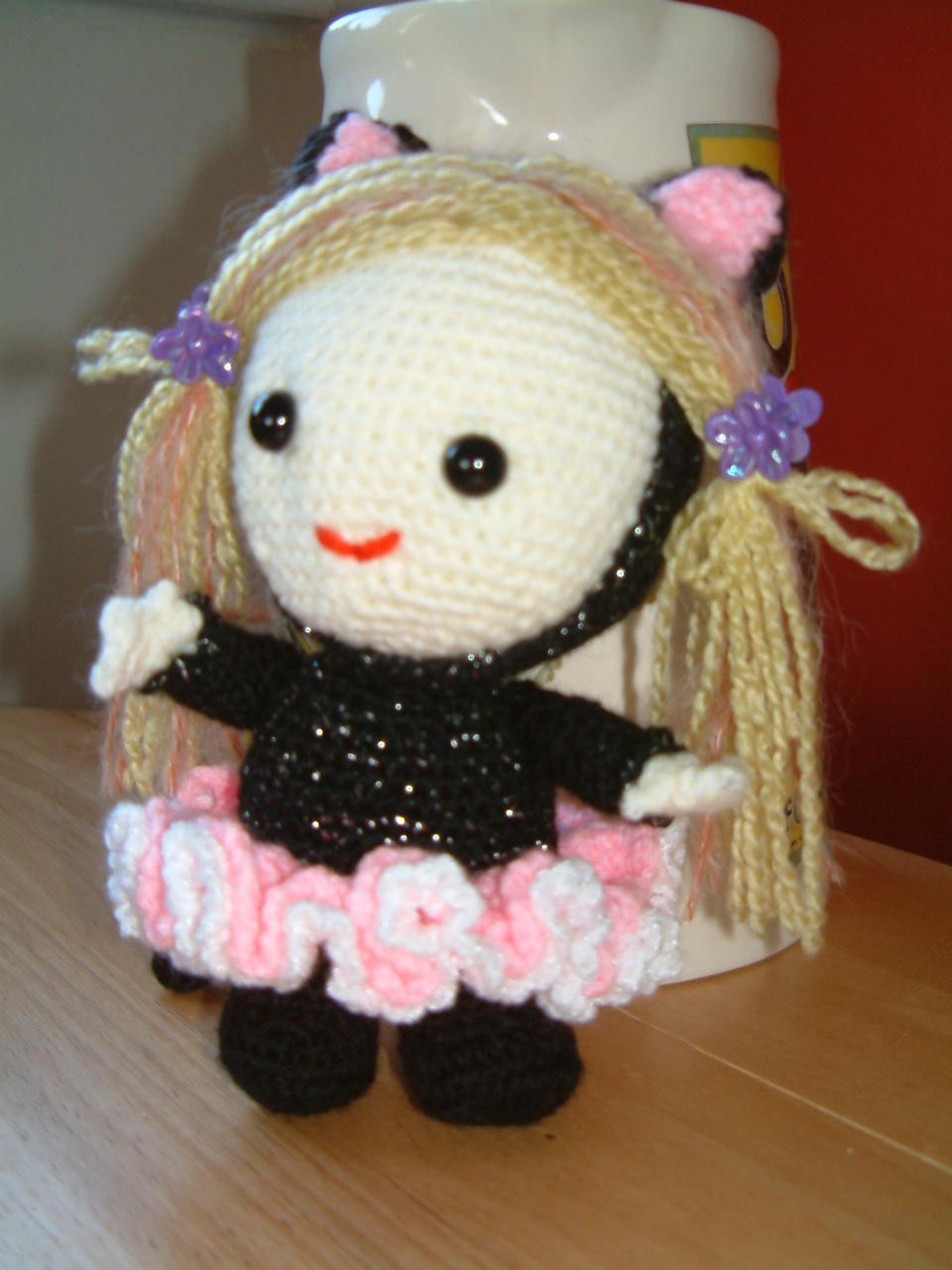 Amigurumi Crochet Patterns K And J Dolls : JUST JOAN: Bella in Ballerina Catsuit ~ Amigurumi crochet ...