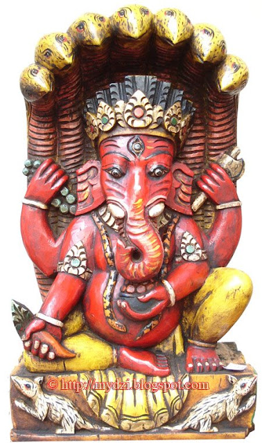 Ganesha with the snake