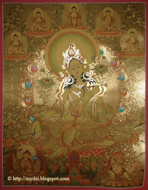 Buddhist Green Tara Gold