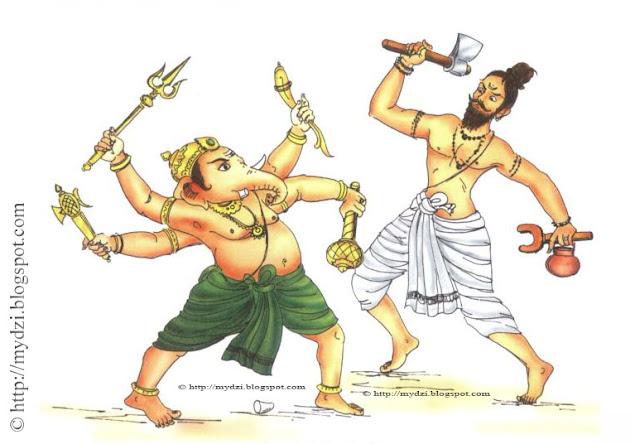 GANESHA Battle With Sage Parashuram