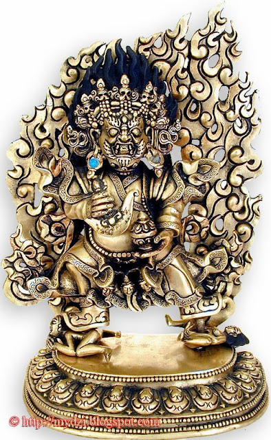 Buddhist Standing Two Arms Mahakala