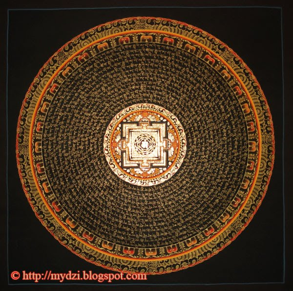 Buddhist Mantra Mandala