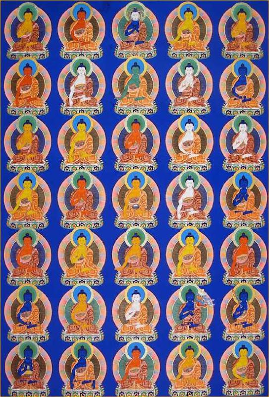 35 Buddha photo set