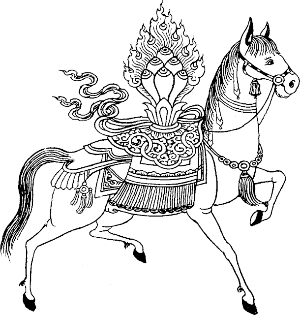 Buddhist WIND HORSE or Lung-Ta