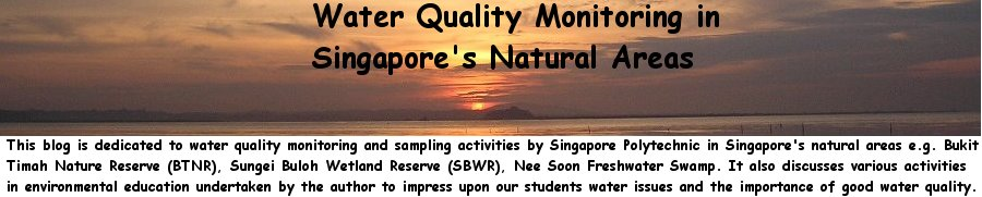 Water Quality Monitoring in Singapore&#39;s Natural Areas