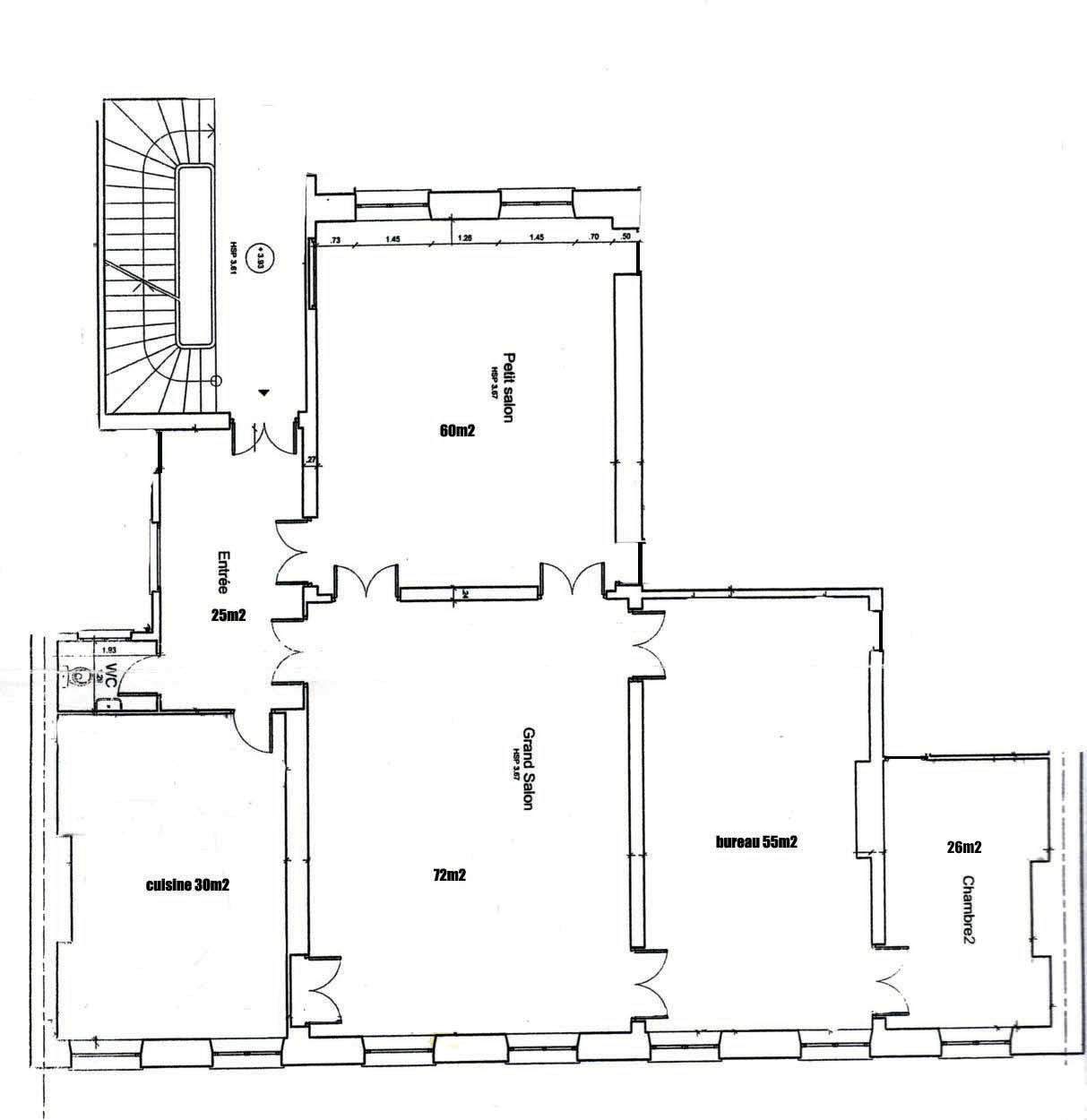 plan maison moderne 150m2