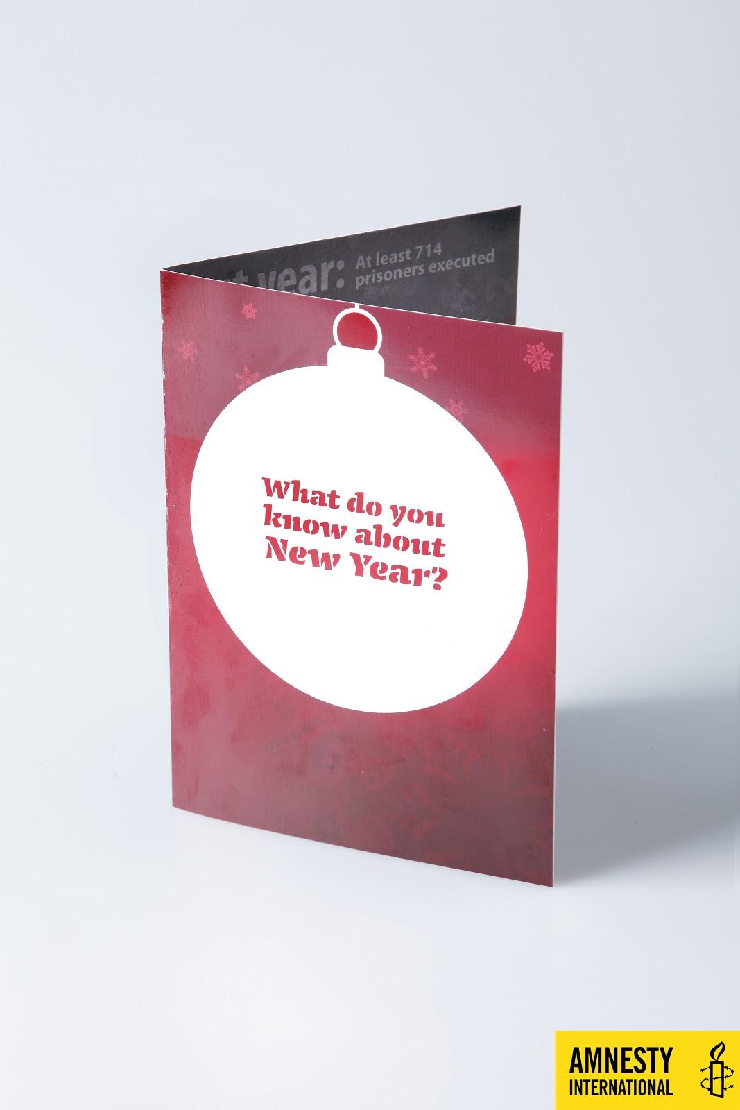 Christmas card for Amnesty International | anya tls