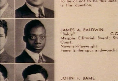 picture of James Baldwin from his yearbook