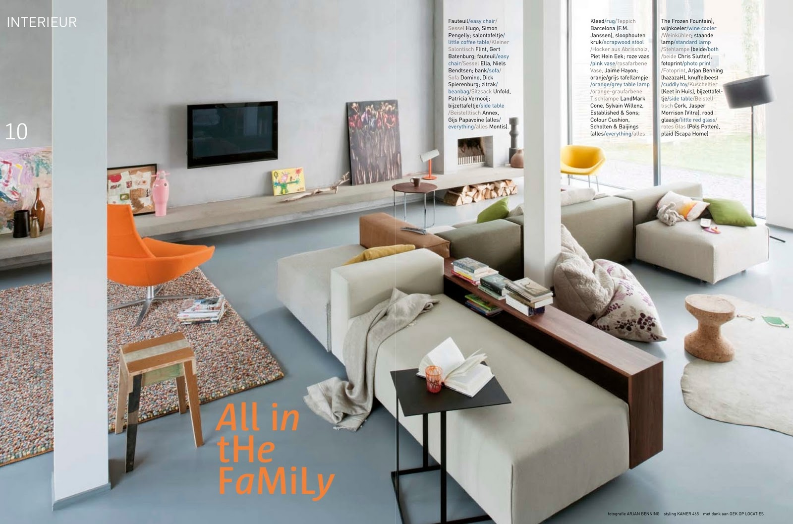the leather pouf is a design of studio job for montis this picture was used in style guide home 2009 a magazine of perscentrum wonen and rianne landstra