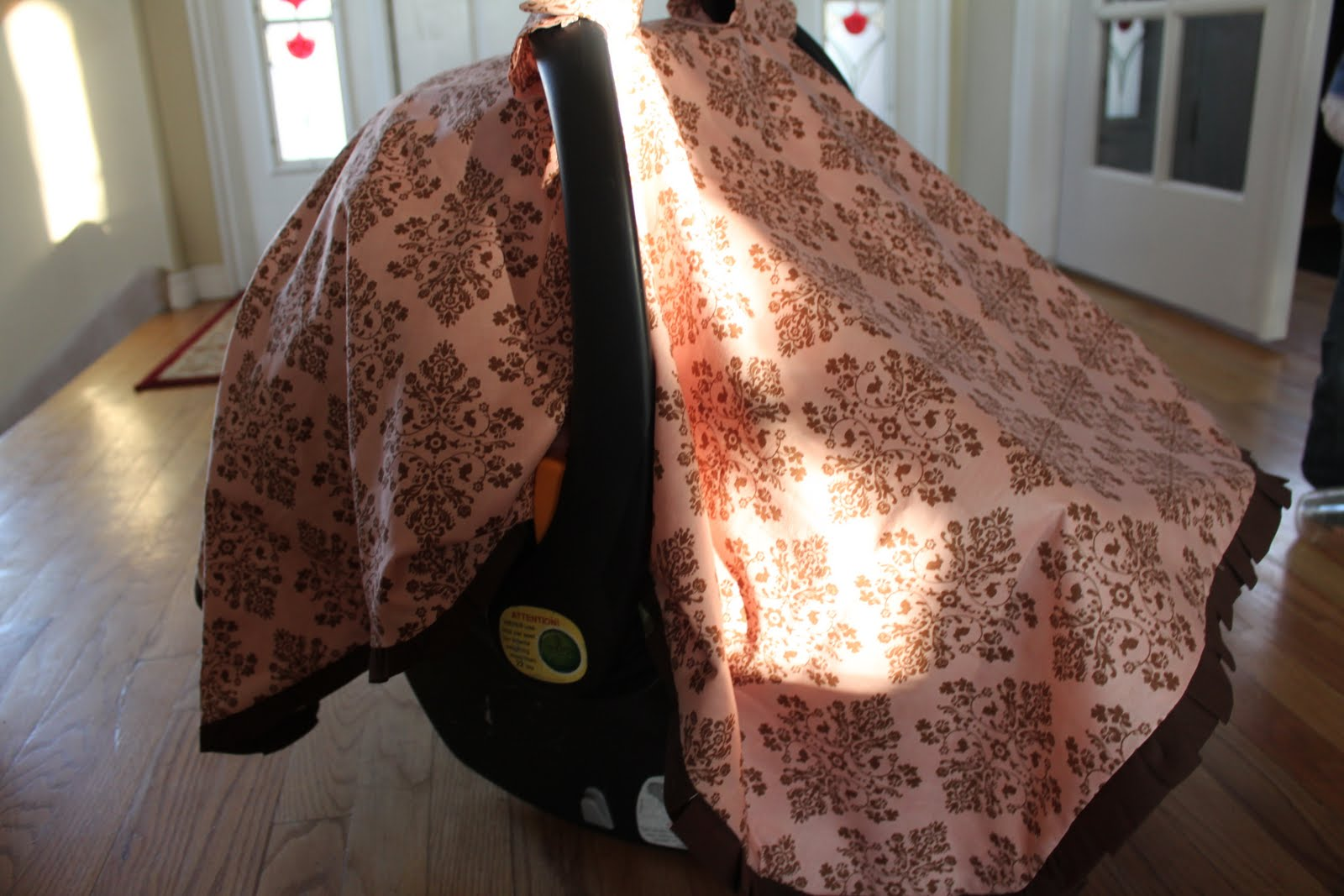 DIY Baby Car Seat Tent/Cover/Canopy & do it yourself as: DIY: Baby Car Seat Tent/Cover/Canopy