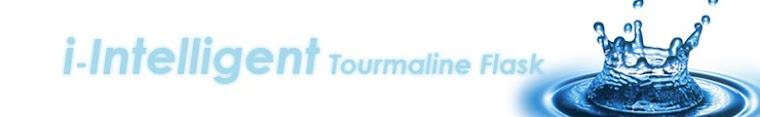 i-INTELLIGENT Tourmaline Flask alkaline water