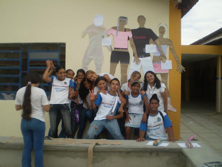 Profª Tânia e alunos do 9ºano. Gestar II.