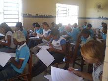 alunos respondendo a avaliação do GESTAR II (9º ano)