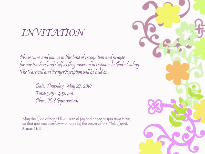 Fare Well Invitation Template