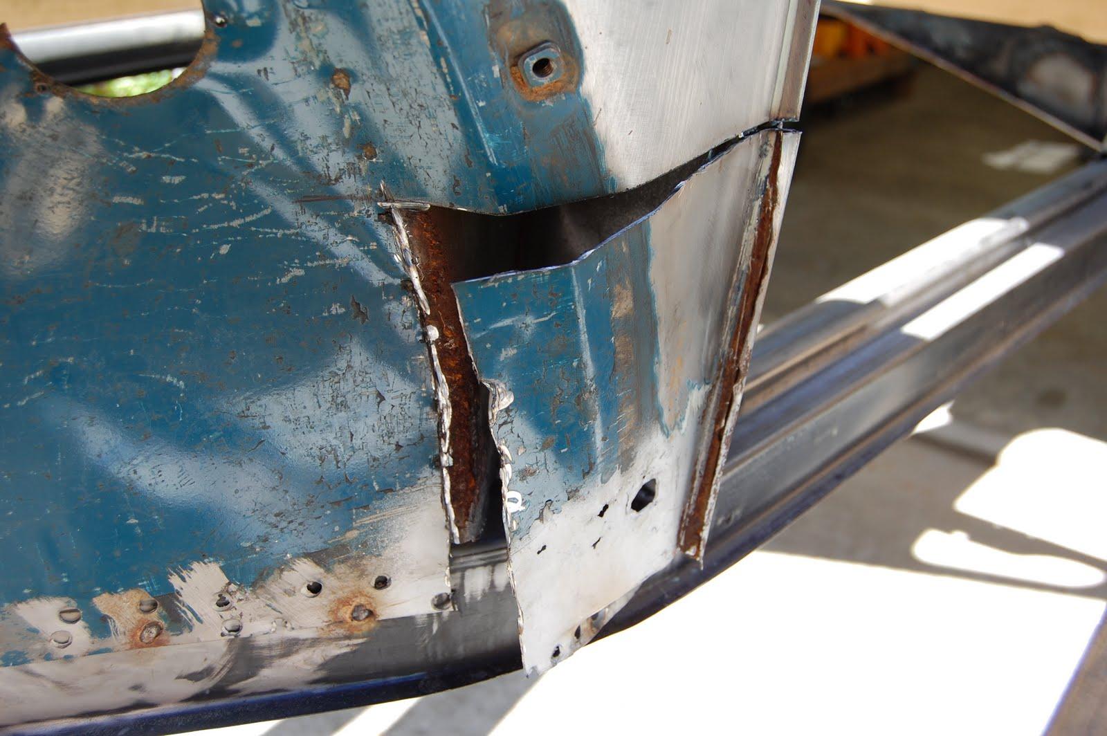 quarter panel repair  volkswagen beetle restoration
