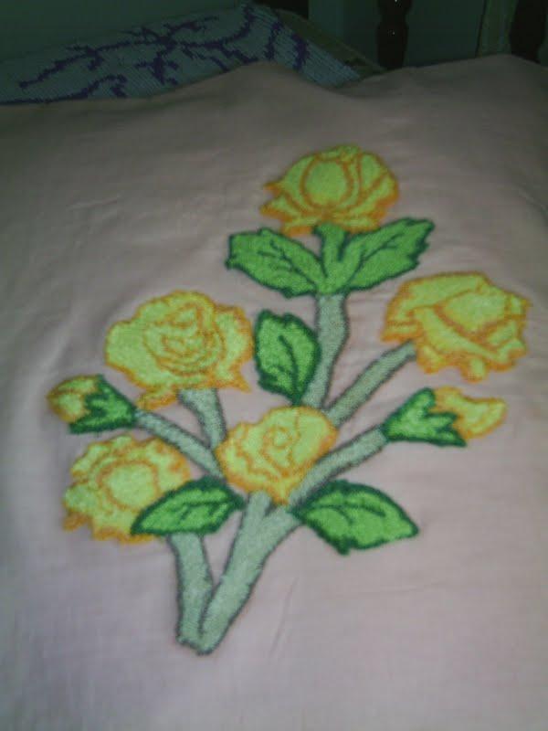 Adesivo De Parede Onde Vende ~ PuxeUse Rosas bordadas em ponto russo