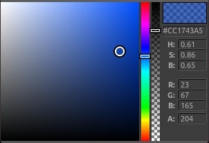 blue color picker