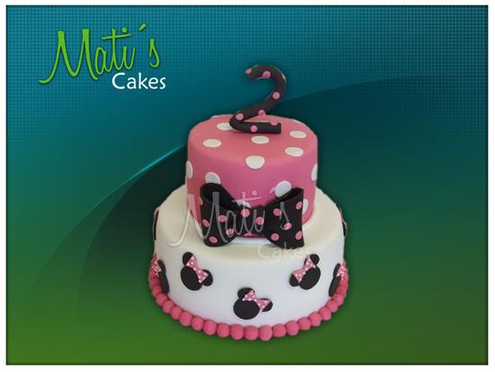 Mati´s Cakes: hermosa torta infantil con motivo de Minnie
