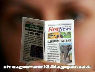World's Smallest Newspaper @ strange pictures