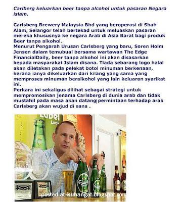 calsberg untuk orang Islam malaysia
