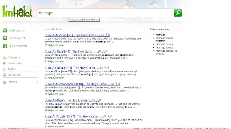 Even the option in doing a keyword search for contents in the Quran is  title=