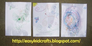 mommy and me rain art craft for kids on a rainy day