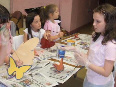 Børnene maler