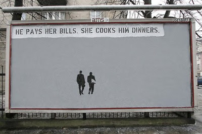 He pays her bills. She cooks him dinners.