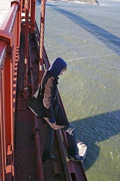 På kanten til spring fra Golden Gate