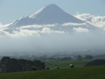 Udsigt fra Eltham mod Mount Taranaki