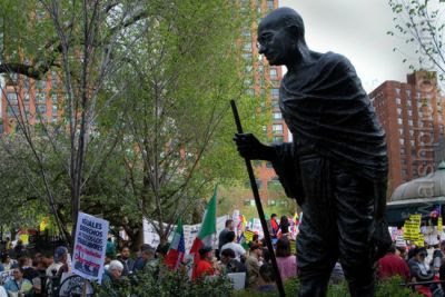 Gandhi-statue på Union Square, New York