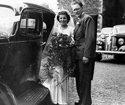 Betty og Sidney Eric Norton ved deres bryllup