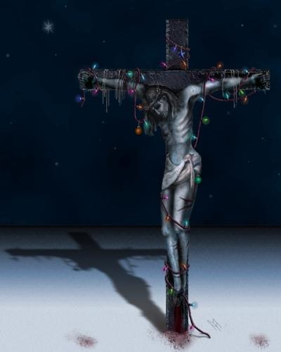 Julen varer lige til påske - 'korsfæstelse'