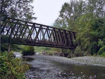 Gammel jernbanebro nær Sequim