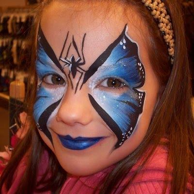 Halloween sommerfugl, facepaint