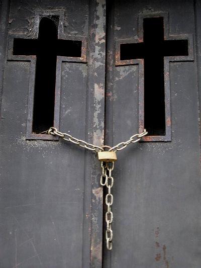 En kirke dør